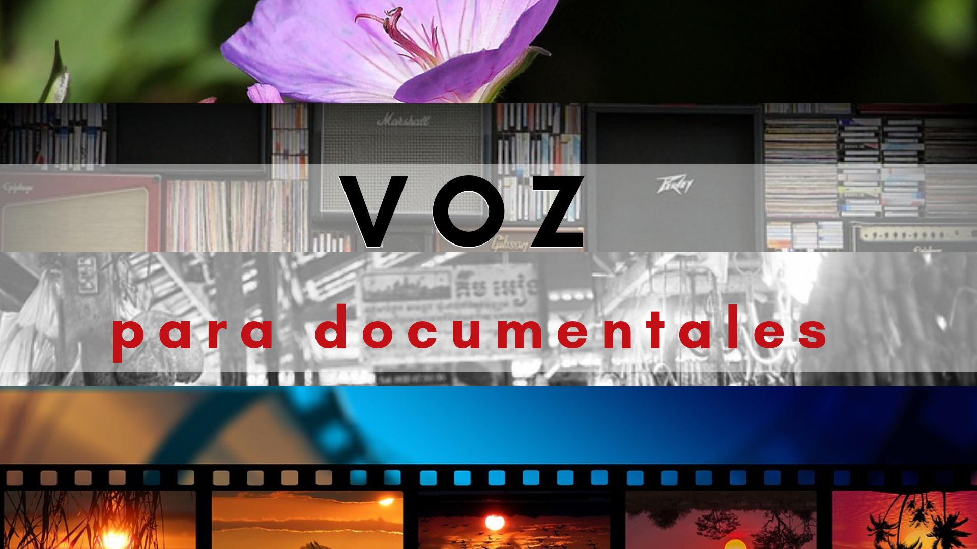 Locutora para documentales. Ejemplos y tarifas de grabación.